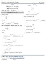 tài liệu ôn thi kiểm tra giữa kỳ môn vật lí lớp 11