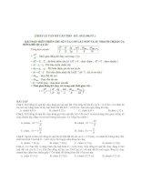 bài toán biến thiên chu kỳ của con lắc đơn và sự nhanh chậm của đồng hồ quả lắc