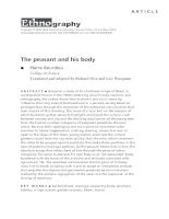 The peasant and his body (Pierre Bourdieu)