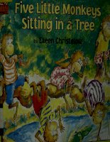 Sách tiếng Anh cho trẻ em Five littele monkeys sitting in a tree