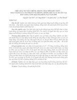 HIỆU QUẢ TRUYỀN THÔNG TRONG THAY ĐỔI KIẾN THỨC – THỰC HÀNH CỦA NGƯỜI DÂN VỀ PHÒNG CHỐNG SỐT XUẤT HUYẾT TẠI BẢO VINH, LONG KHÁNH, ĐỒNG NAI NĂM 2009