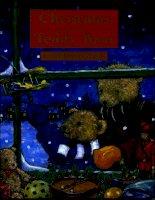 Sách tiếng Anh cho trẻ em Christmas with teddyabear