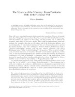 The mystery of the ministry  from particular wills to the general will (Pierre Bourdieu)