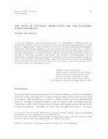 The field of cultural production, or  the economic world reversed (Pierre Bourdieu)