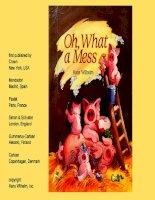 Sách tiếng Anh cho trẻ em Oh what a mess