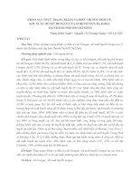 KHẢO SÁT THỰC TRẠNG KHÁM VÀ ĐIỀU TRỊ SỐT DENGUE, SỐT XUẤT HUYẾT DENGUE CỦA 15 BỆNH VIỆN ĐA KHOA TẠI THÀNH PHỐ HỒ CHÍ MINH