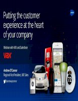 Putting the customer experience at the heart of your company