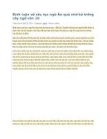 Bình luận về câu tục ngữ ăn quả nhớ kẻ trồng cây ngữ văn 10