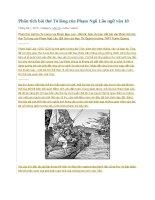 Phân tích bài thơ tỏ lòng của phạm ngũ lão ngữ văn 10