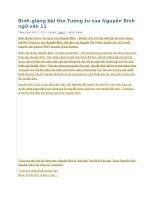 Bình giảng bài thơ tương tư của nguyễn bính ngữ văn 11
