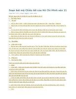 Soạn bài mộ chiều tối của hồ chí minh văn 11