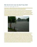 Bài văn tả cơn mưa rào lớp 5 hay nhất