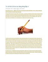 Tả cái bút chì mà em đang dùng lớp 4