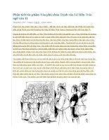 Phân tích tác phẩm vào phủ chúa trịnh của lê hữu trác ngữ văn 11