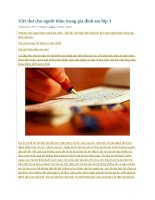 Viết thư cho người thân trong gia đình em lớp 3