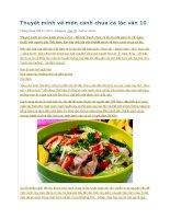 Thuyết minh về món canh chua cá lóc văn 10
