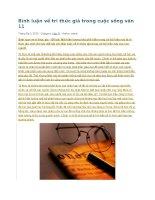 Bình luận về tri thức giả trong cuộc sống văn 11