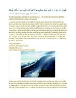 Phát biểu cảm nghĩ về bài xa ngắm thác núi lư của lí bạch