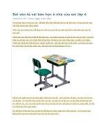 Bài văn tả cái bàn học ở nhà của em lớp 4