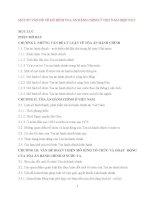 MỘT SỐ VẤN ĐỀ VỀ MÔ HÌNH TÒA ÁN HÀNH CHÍNH Ở VIỆT NAM HIỆN NAY