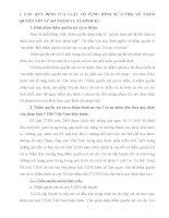 CÁC QUY ĐỊNH CỦA LUẬT TỐ TỤNG HÌNH SỰ (TTHS) VỀ THẨMQUYỀN XÉT XỬ SƠ THẨM VỤ ÁN HÌNH SỰ