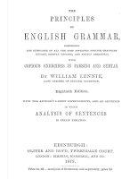 William lennie   the principles of english grammar 8th edition 1879