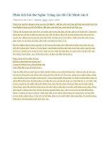Phân tích bài thơ ngắm trăng của hồ chí minh văn 8