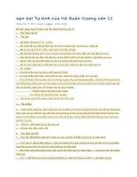 soạn bài tự tình của hồ xuân hương văn 11