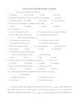Ôn thi Đại học môn tiếng Anh: Đề kiểm tra tiếng anh 45 câu trắc nghiệm (có đáp án)