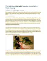 Văn 11 bình giảng bài thơ tự tình của hồ xuân hương
