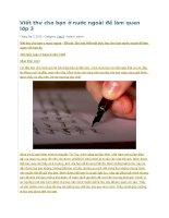 Viết thư cho bạn ở nước ngoài để làm quen lớp 3