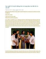 Suy nghĩ về truyền thống tôn sư trọng đạo của dân tộc ta văn 10