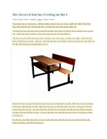 Bài văn tả cái bàn học ở trường em lớp 4