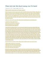 Phân tích bài thơ quê hương của tế hanh