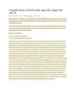 Thuyết minh về hình ảnh cây nêu ngày tết văn 9