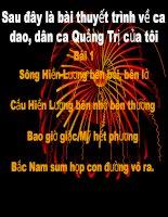 bài giảng những câu hát về tình yêu quê hương, đất nước, con người
