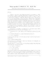 Bài giảng môn học LOGIC mờ và ứng dụng