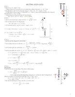 bài tập và lời giải bài dao động con lắc lò xo
