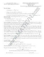 Đề thi thử THPT môn Toán 2016 đề 7