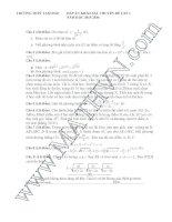 Đề thi thử THPT môn Toán 2016 đề 11