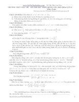 Đề thi thử THPT môn Toán 2016 đề 15