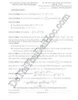 Đề thi thử THPT môn Toán 2016 đề 6