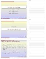 Bài giảng đại số, giải tích và ứng dụng chương 4   nguyễn thị nhung (đh thăng long)