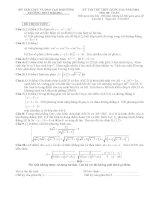 bộ đề thi thử thpt quốc gia 2016 môn toán có đáp án