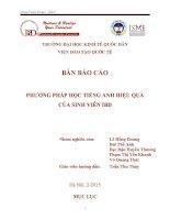 Bản báo cáo phương pháp học tiếng anh hiệu quả của sinh viên IBD