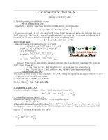 Các công thức tính toán sinh học 12