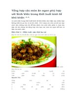 Tổng hợp các món ăn ngon phù hợp với sinh viên trong thời buổi kinh tế khó khăn
