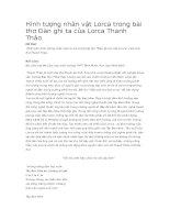 Hình tượng nhân vật lorca trong bài thơ đàn ghi ta của lorca thanh thảo
