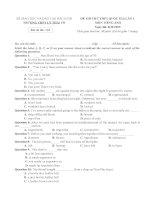 Đề thi thử tiếng anh THPT quốc gia   bộ đề số 4