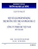 Một số giải pháp mở rộng thị trường tiêu thụ sản phẩm trà C2 của Công ty TNHH URC Việt Nam đến năm 2020 (ppt)